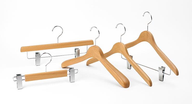 コーベルクローゼット 木製ハンガー クリアコート