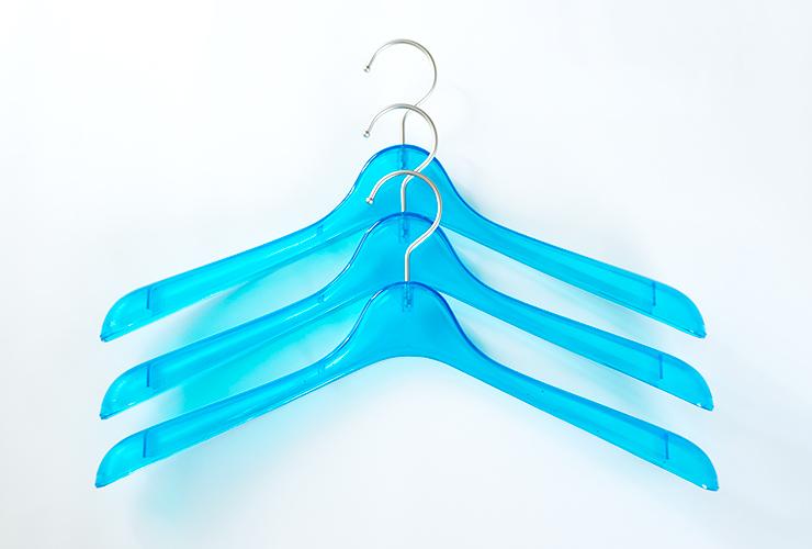 コーベルクローゼット プラスチックハンガー ターコイズブルー