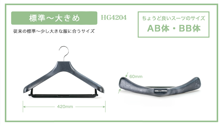 コーベルクローゼット スーツハンガー 標準〜大きめ