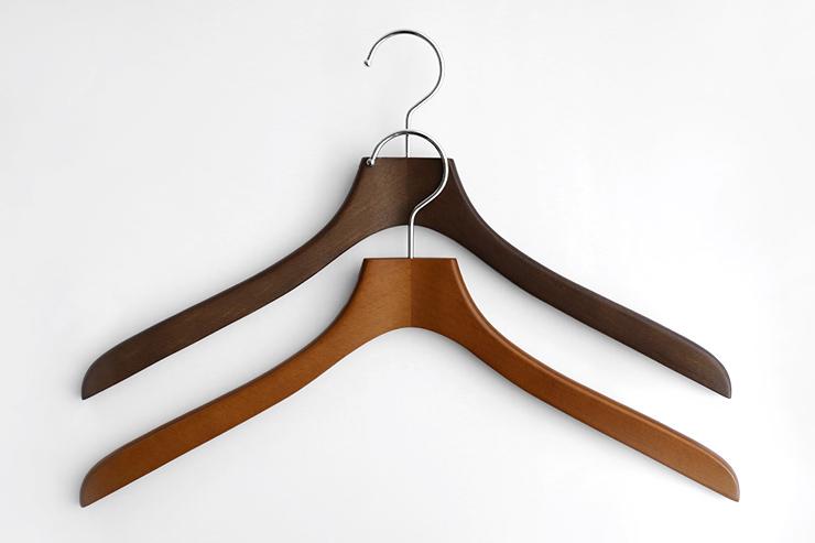 コーベルクローゼット 木製シャツハンガー オークブラウン、メープルブラウン